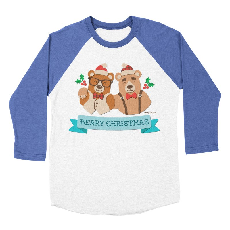 BEARy Christmas Men's Baseball Triblend Longsleeve T-Shirt by Andy Bauer's Shop