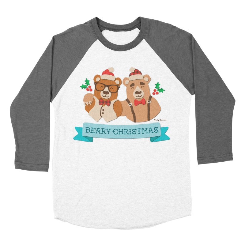 BEARy Christmas Men's Baseball Triblend T-Shirt by Andy Bauer's Shop