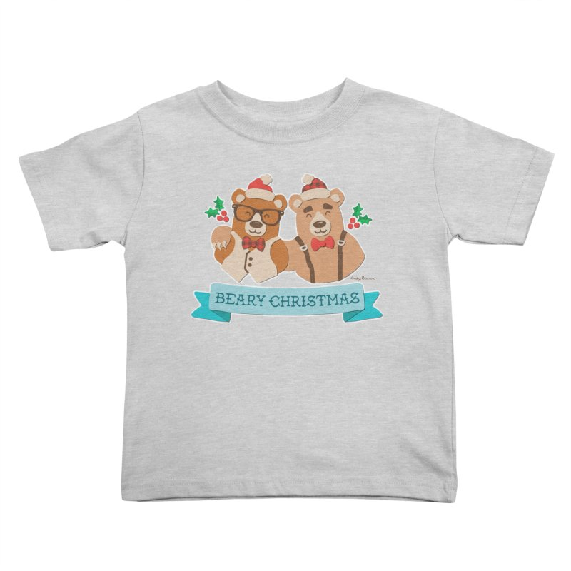 BEARy Christmas Kids Toddler T-Shirt by Andy Bauer's Shop