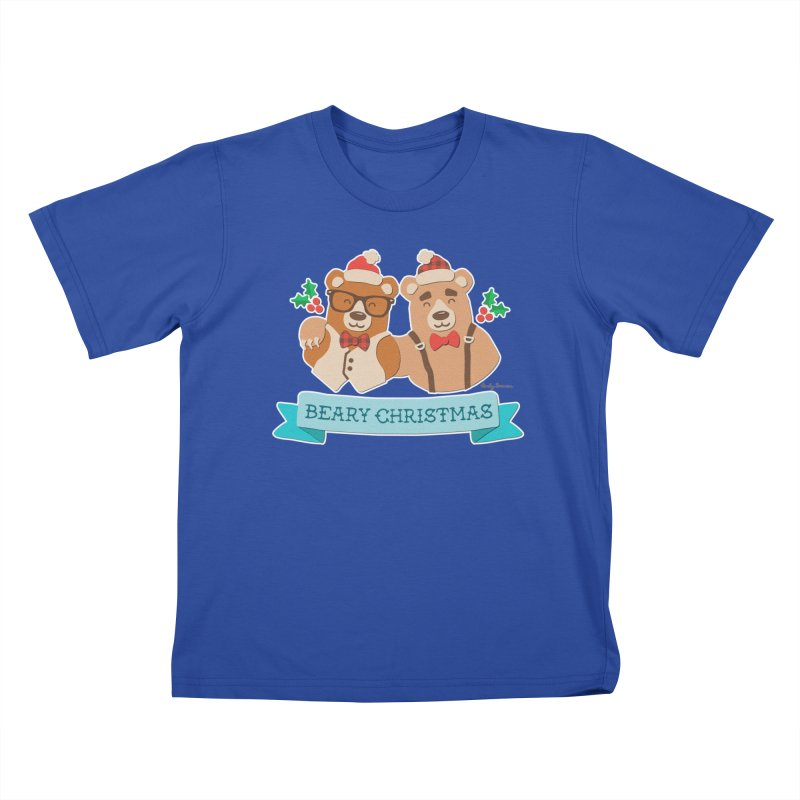BEARy Christmas Kids T-Shirt by Andy Bauer's Shop
