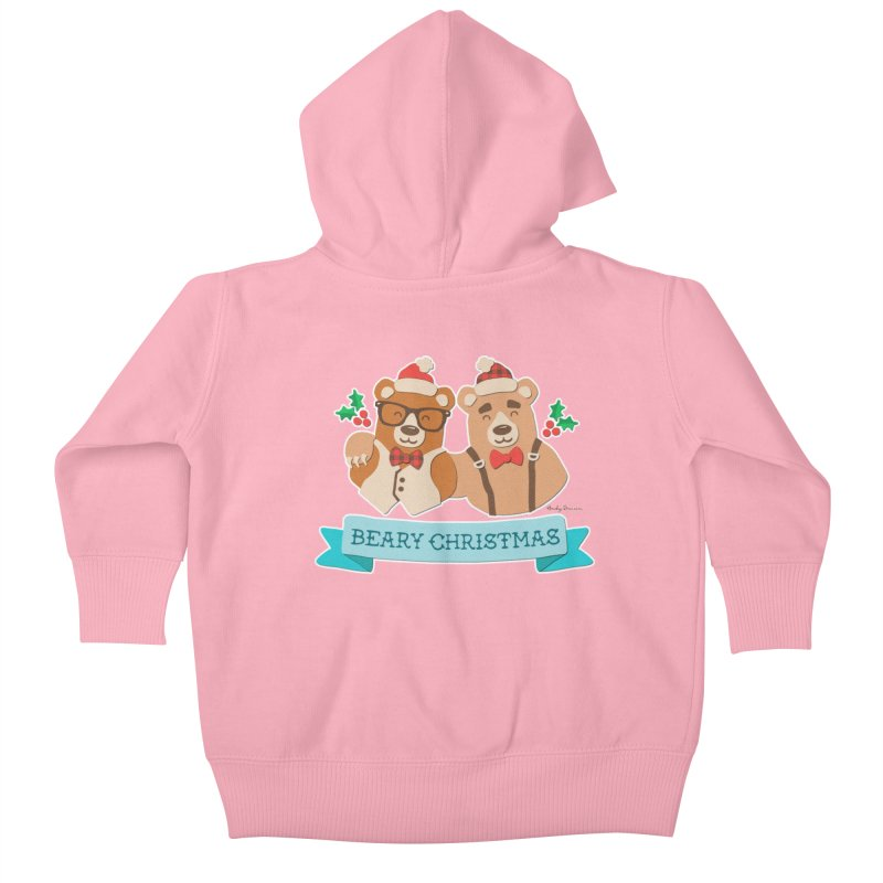 BEARy Christmas Kids Baby Zip-Up Hoody by Andy Bauer's Shop