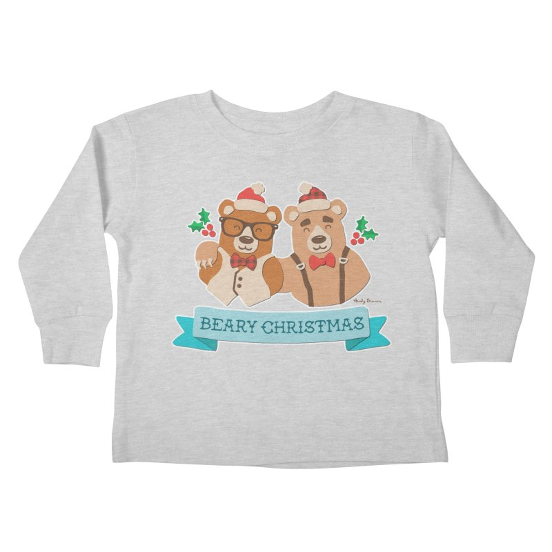 BEARy Christmas Kids Toddler Longsleeve T-Shirt by Andy Bauer's Shop