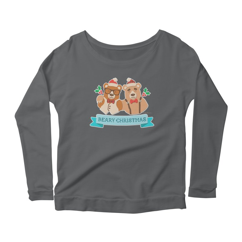 BEARy Christmas Women's Longsleeve Scoopneck  by Andy Bauer's Shop