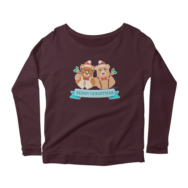 BEARy Christmas Women's Scoop Neck Longsleeve T-Shirt by Andy Bauer's Shop