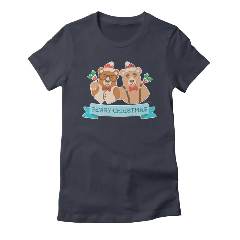 BEARy Christmas Women's Fitted T-Shirt by Andy Bauer's Shop