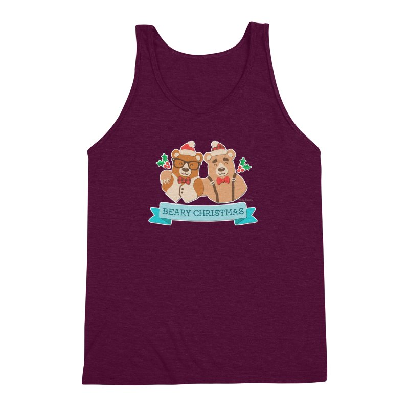 BEARy Christmas Men's Triblend Tank by Andy Bauer's Shop
