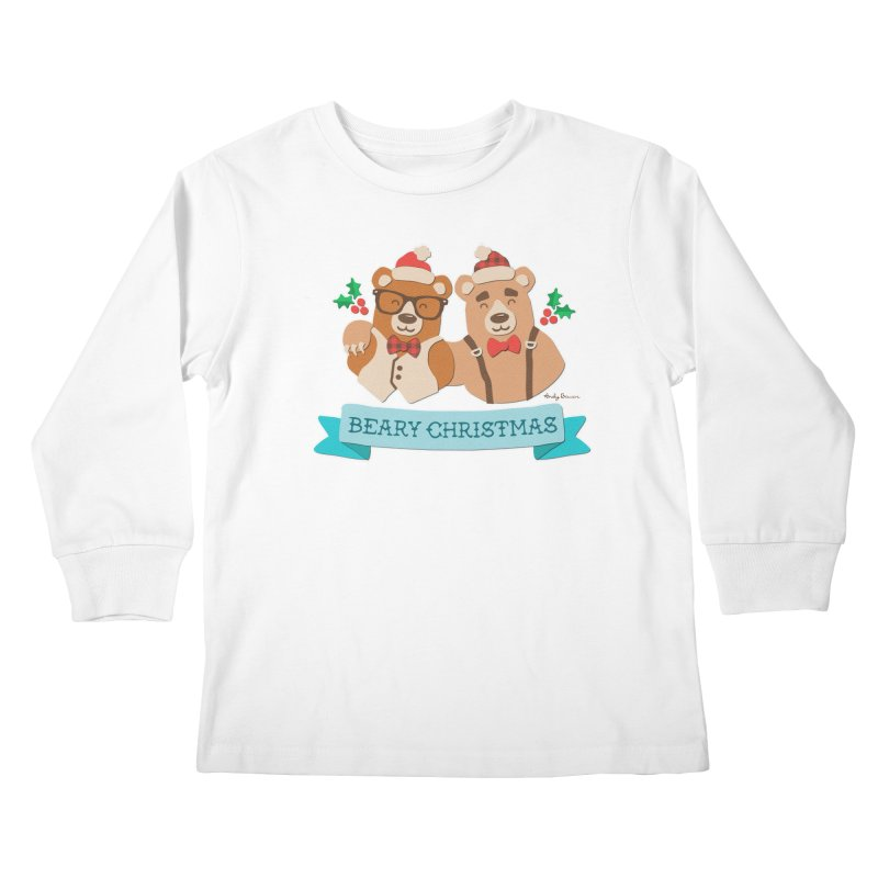 BEARy Christmas Kids Longsleeve T-Shirt by Andy Bauer's Shop