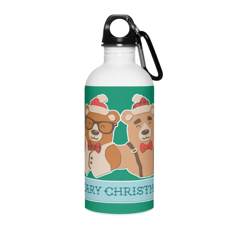 BEARy Christmas Accessories Water Bottle by Andy Bauer's Shop
