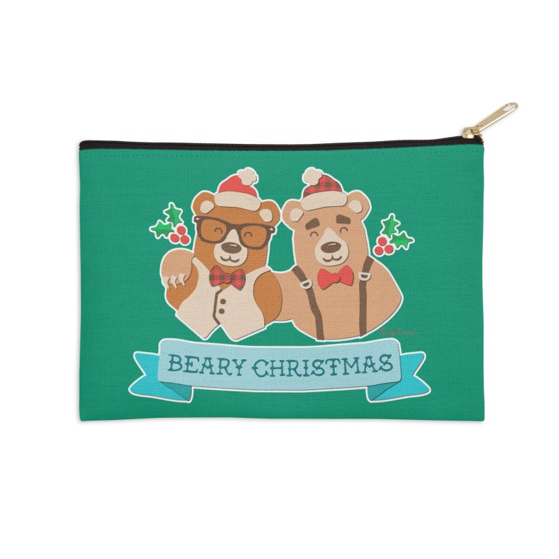 BEARy Christmas Accessories Zip Pouch by Andy Bauer's Shop