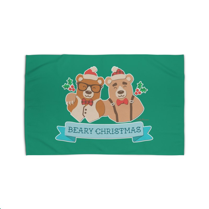 BEARy Christmas Home Rug by Andy Bauer's Shop