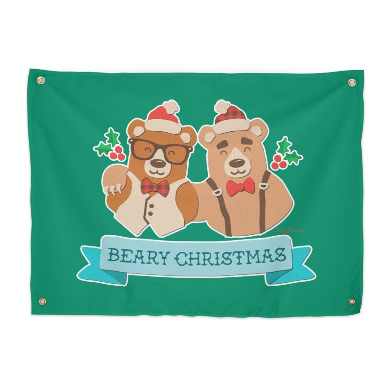 BEARy Christmas Home Tapestry by Andy Bauer's Shop