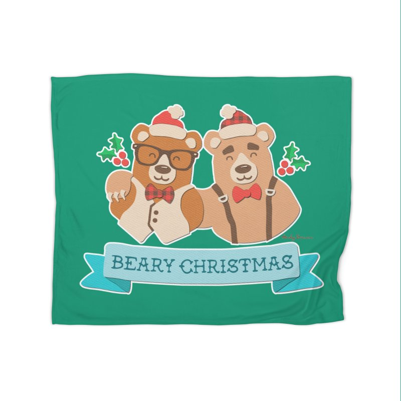 BEARy Christmas Home Blanket by Andy Bauer's Shop