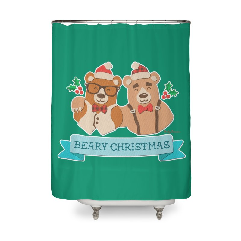 BEARy Christmas Home Shower Curtain by Andy Bauer's Shop