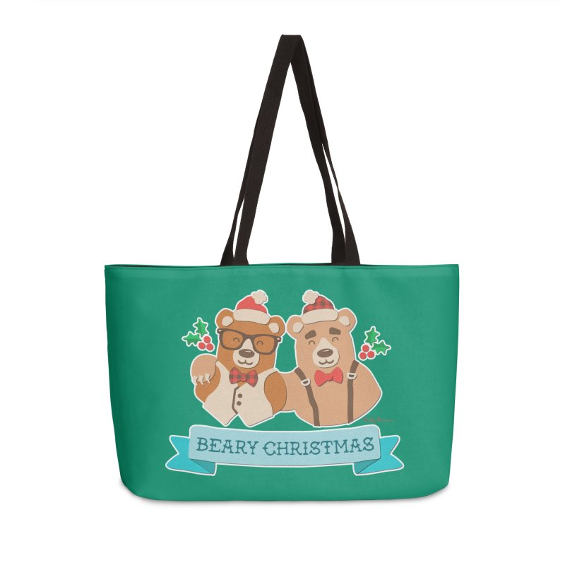 BEARy Christmas Accessories Weekender Bag Bag by Andy Bauer's Shop