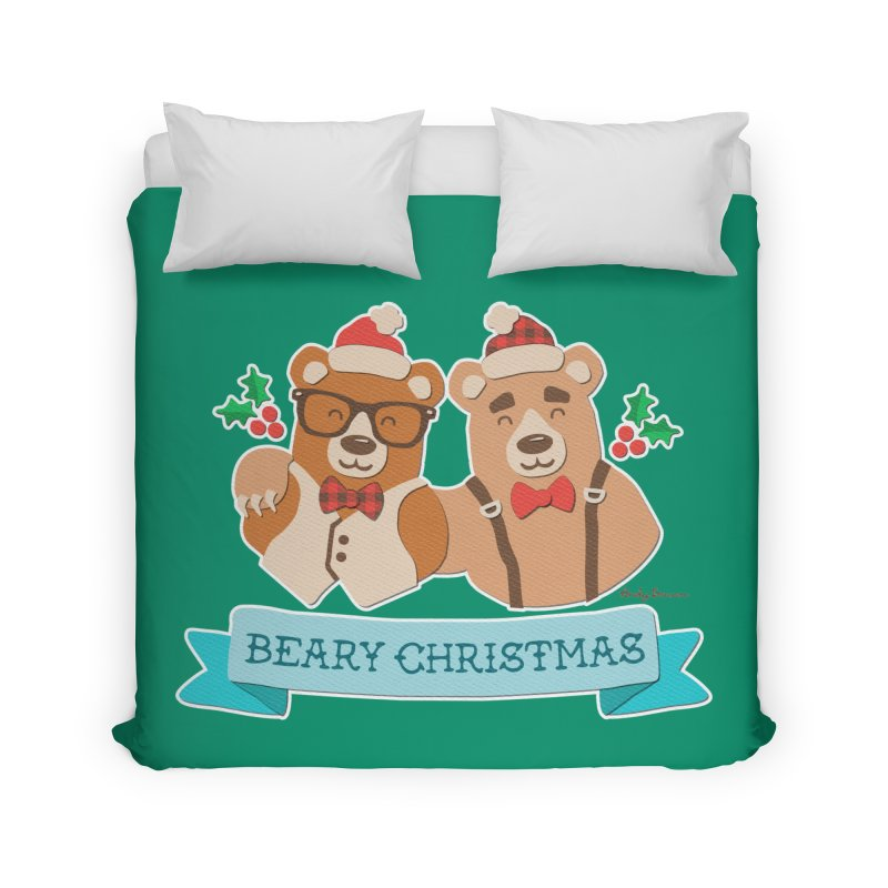BEARy Christmas Home Duvet by Andy Bauer's Shop