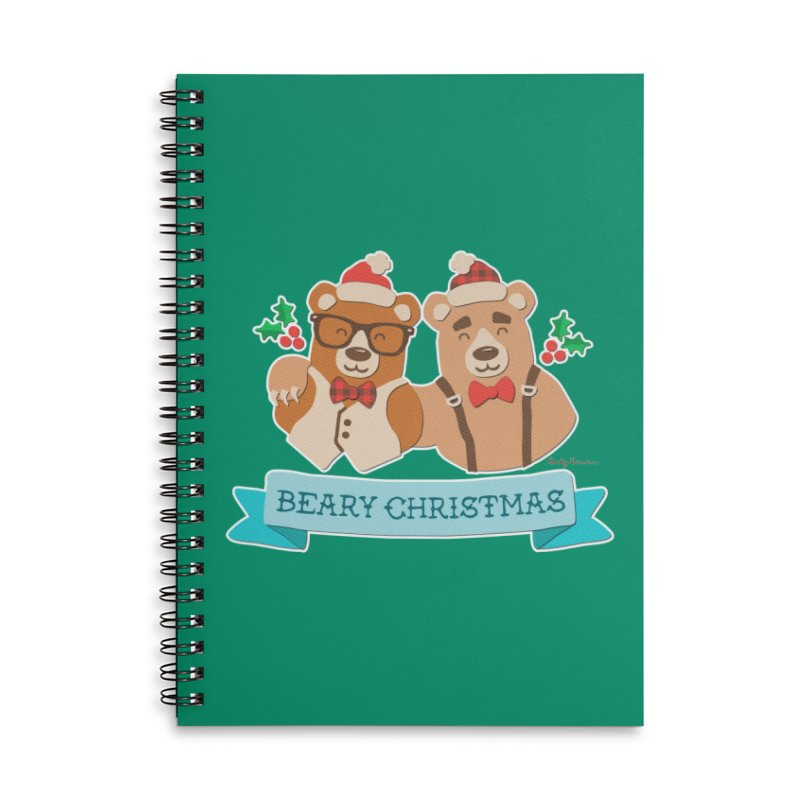 BEARy Christmas Accessories Lined Spiral Notebook by Andy Bauer's Shop