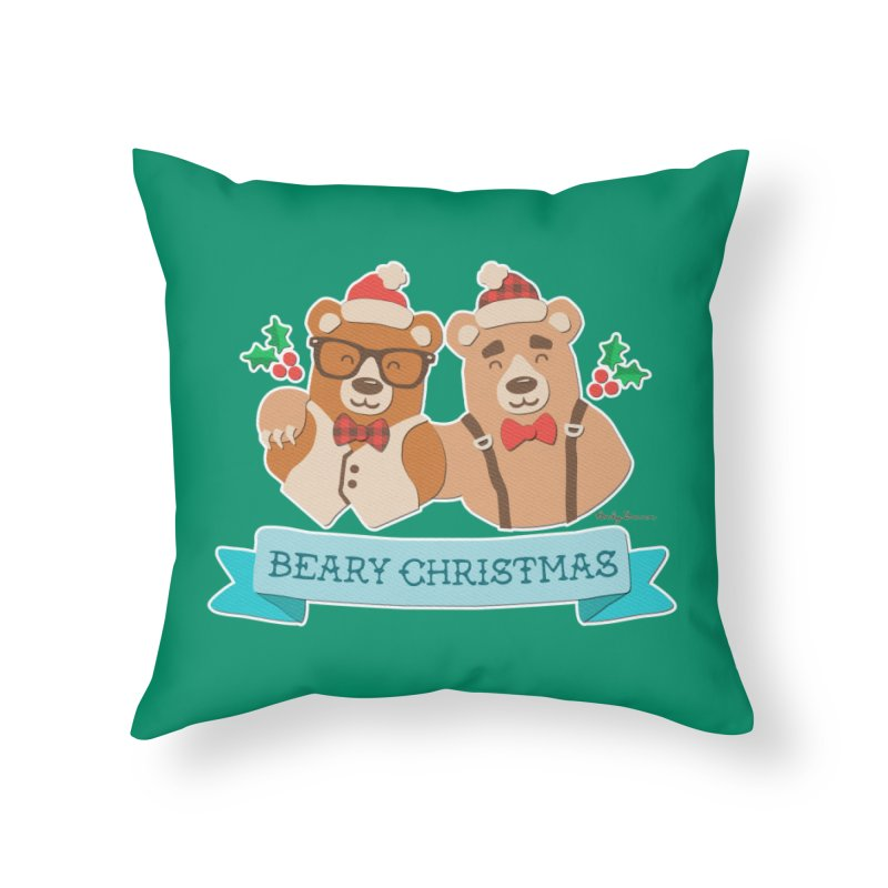 BEARy Christmas Home Throw Pillow by Andy Bauer's Shop