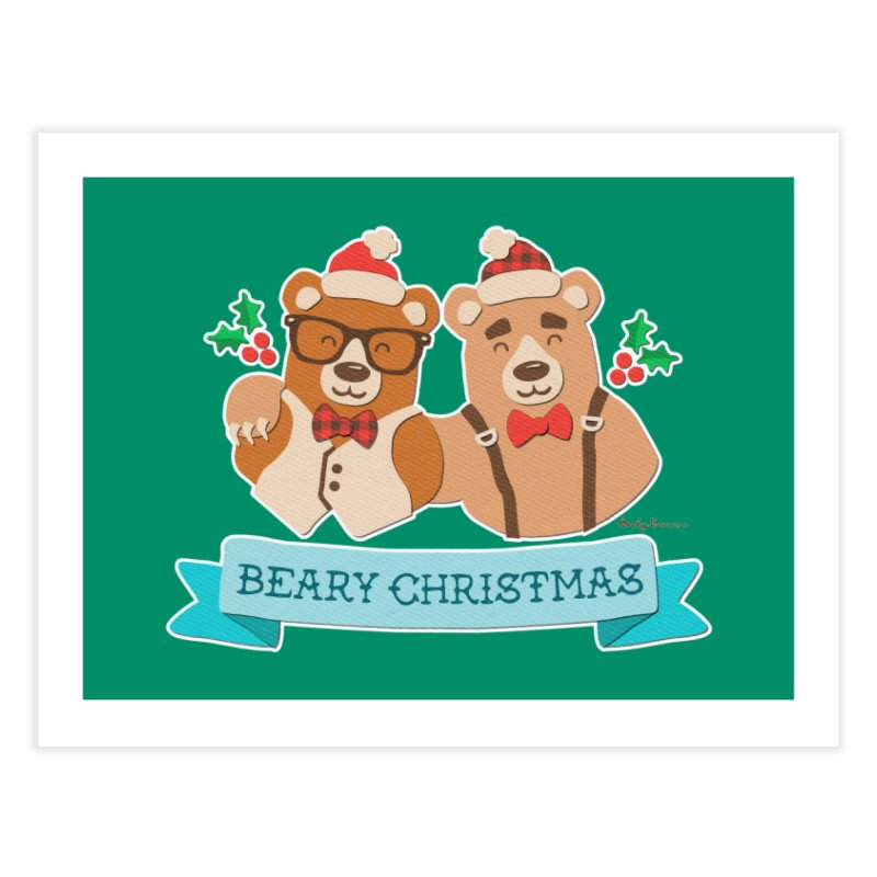BEARy Christmas Home Fine Art Print by Andy Bauer's Shop