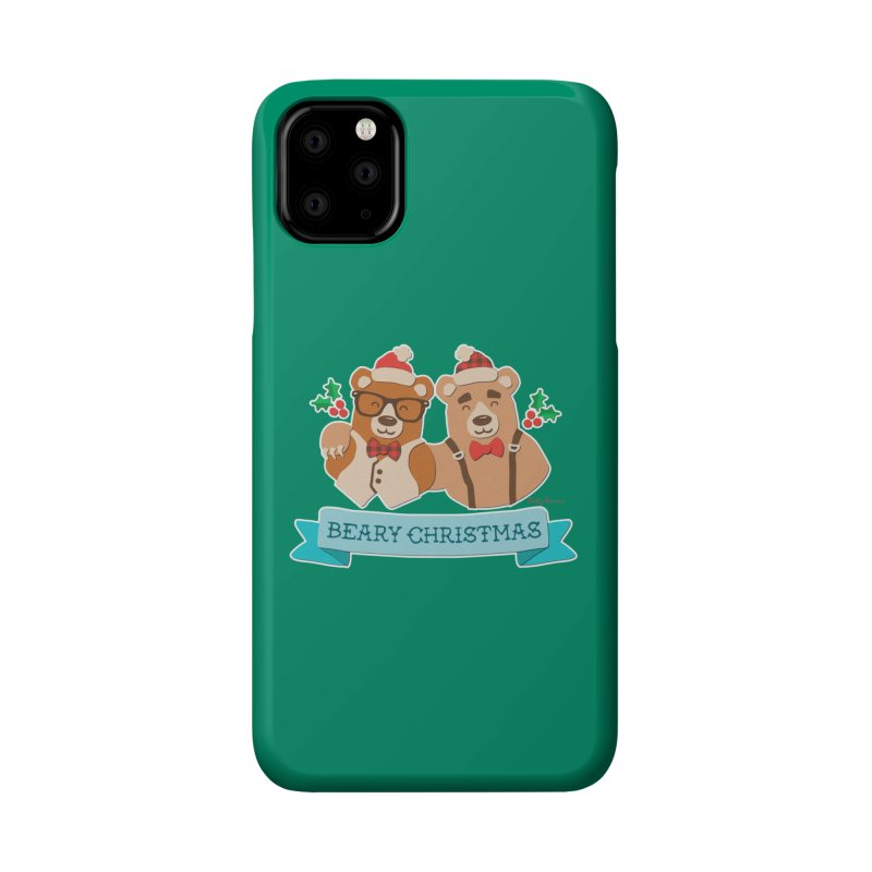 BEARy Christmas Accessories Phone Case by Andy Bauer's Shop