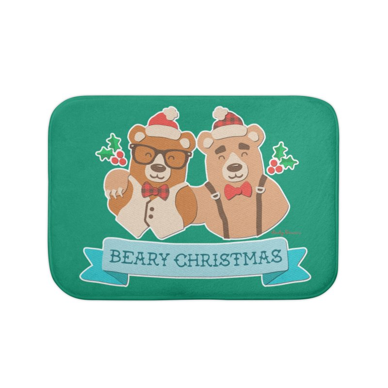 BEARy Christmas Home Bath Mat by Andy Bauer's Shop