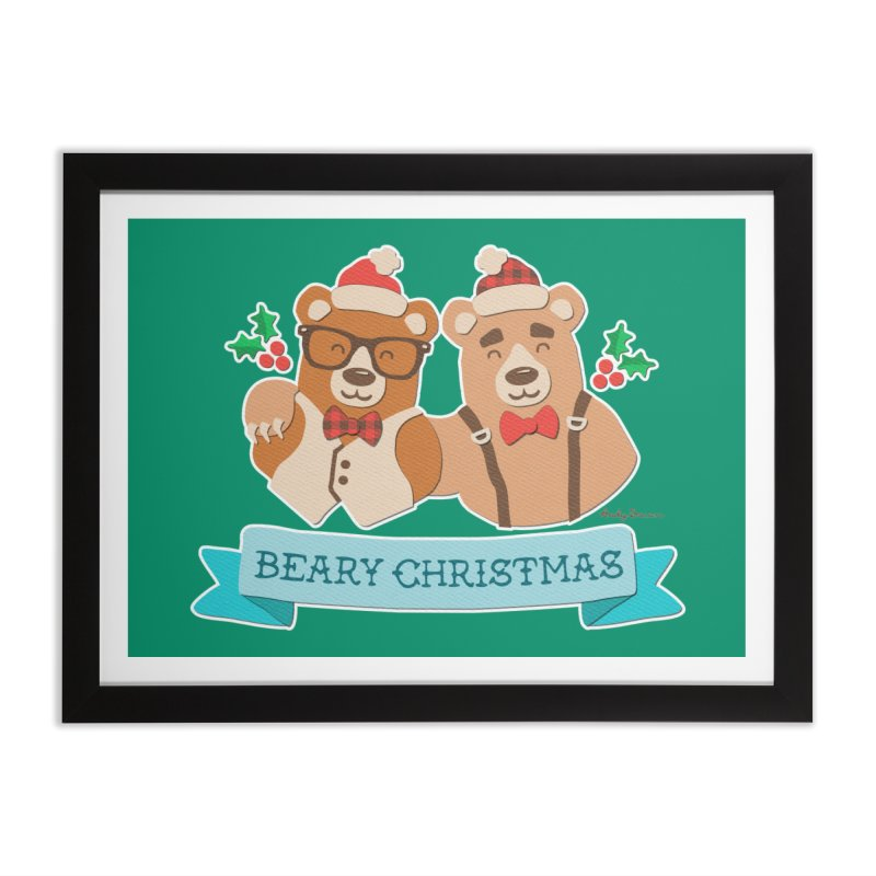 BEARy Christmas Home Framed Fine Art Print by Andy Bauer's Shop