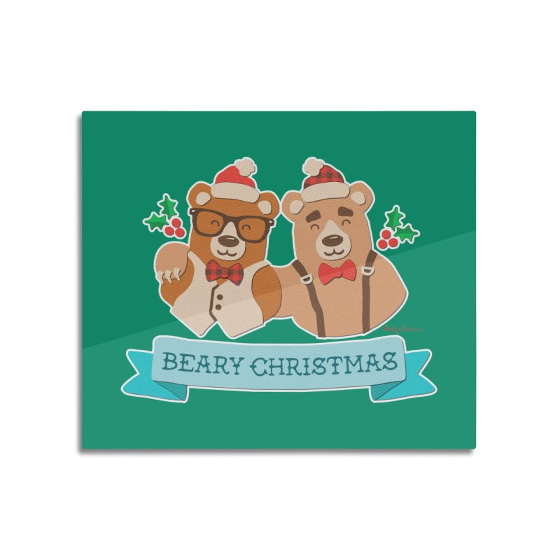BEARy Christmas Home Mounted Aluminum Print by Andy Bauer's Shop