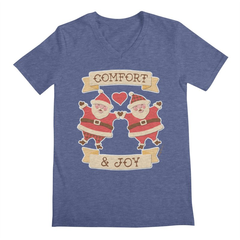 Comfort and Joy Men's Regular V-Neck by Andy Bauer's Shop