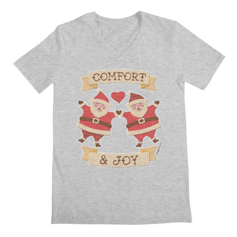 Comfort and Joy Men's Regular V-Neck by Andy Bauer's Shop