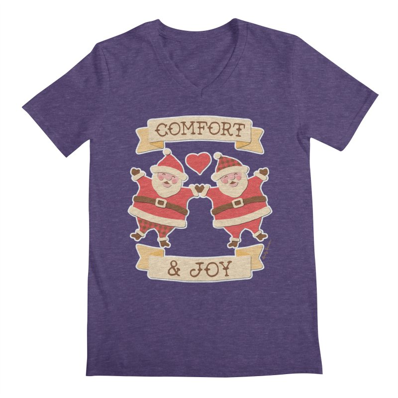 Comfort and Joy Men's V-Neck by Andy Bauer's Shop