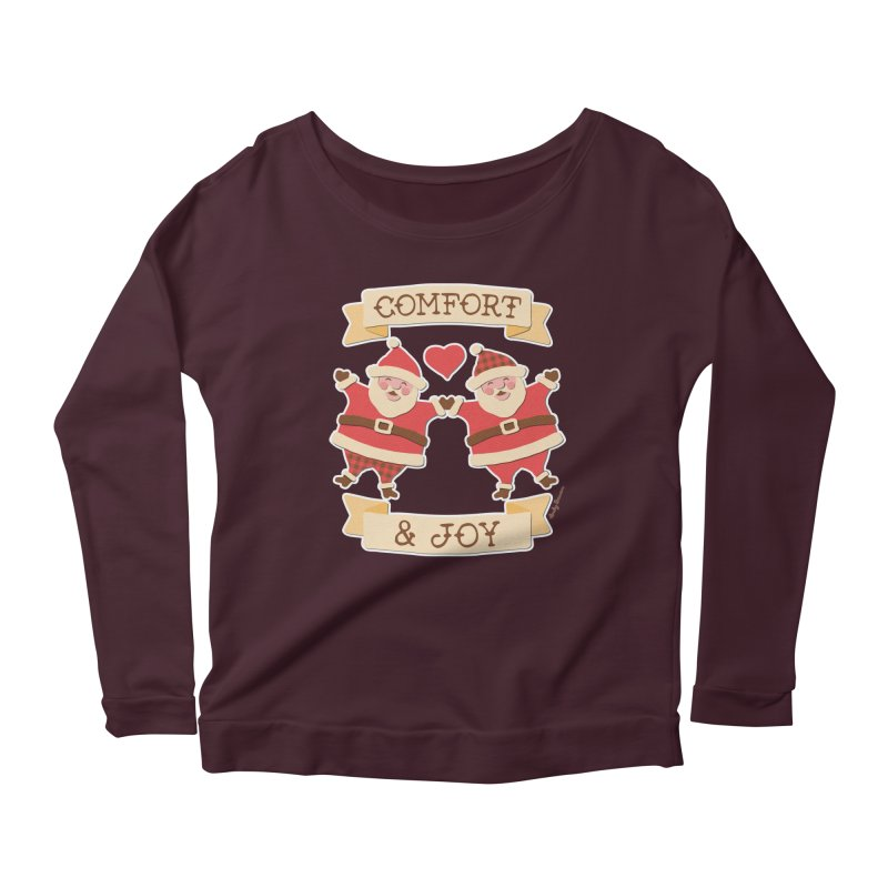 Comfort and Joy Women's Scoop Neck Longsleeve T-Shirt by Andy Bauer's Shop
