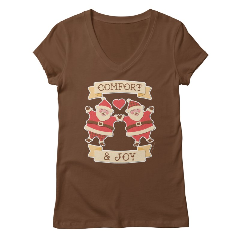 Comfort and Joy Women's Regular V-Neck by Andy Bauer's Shop