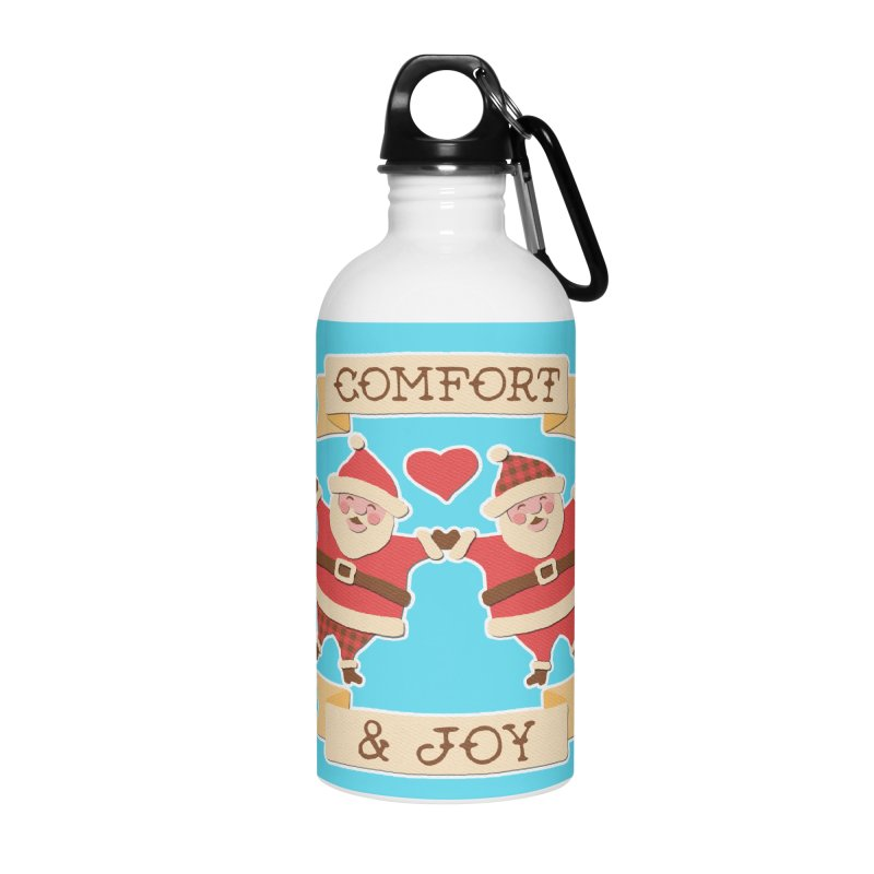 Comfort and Joy Accessories Water Bottle by Andy Bauer's Shop