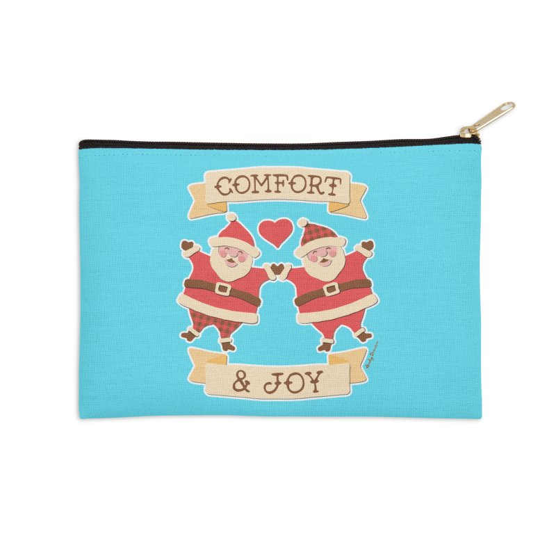 Comfort and Joy Accessories Zip Pouch by Andy Bauer's Shop