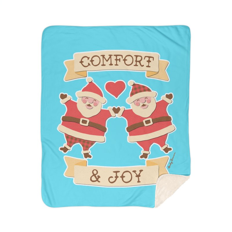 Comfort and Joy Home Sherpa Blanket Blanket by Andy Bauer's Shop