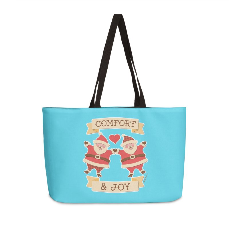 Comfort and Joy Accessories Weekender Bag Bag by Andy Bauer's Shop