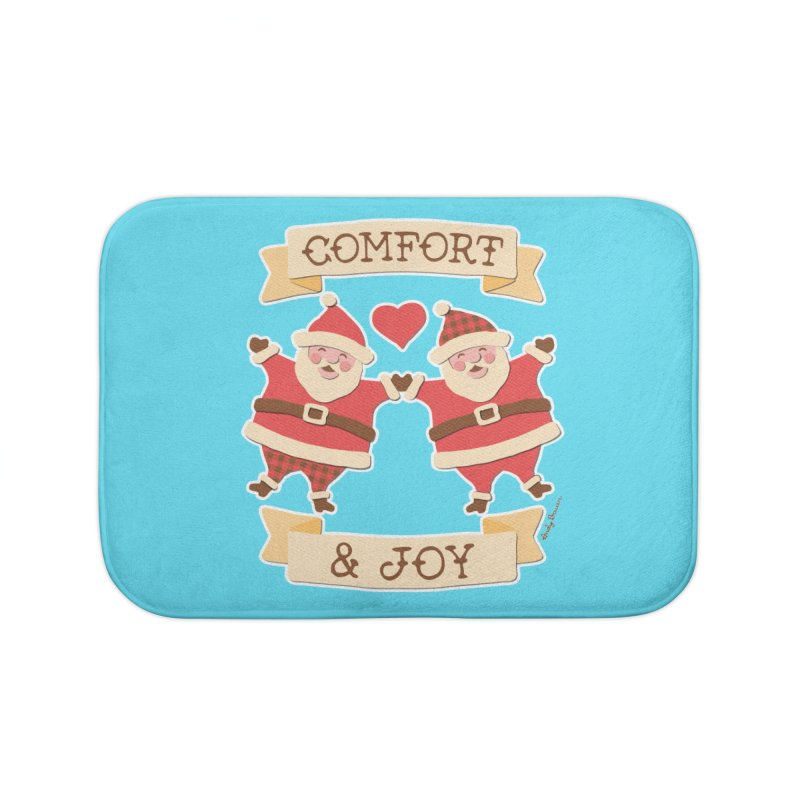 Comfort and Joy Home Bath Mat by Andy Bauer's Shop