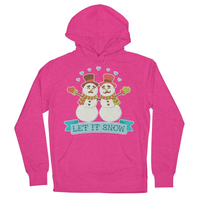 Let It Snow Women's French Terry Pullover Hoody by Andy Bauer's Shop