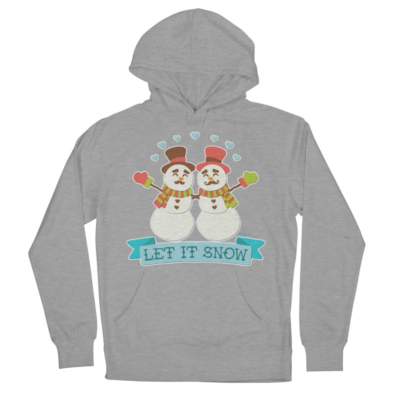 Let It Snow Men's French Terry Pullover Hoody by Andy Bauer's Shop