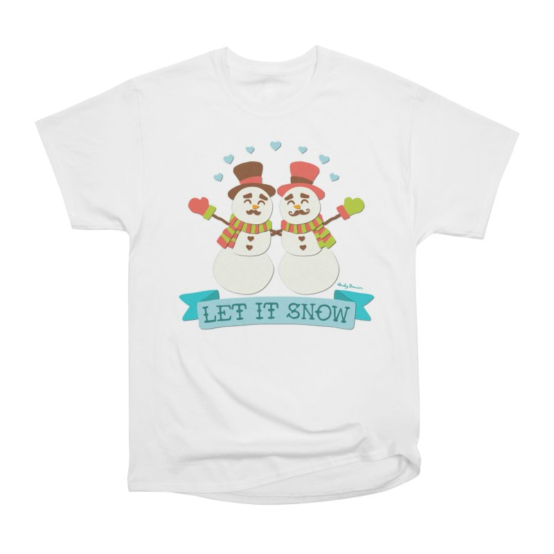 Let It Snow Men's Heavyweight T-Shirt by Andy Bauer's Shop