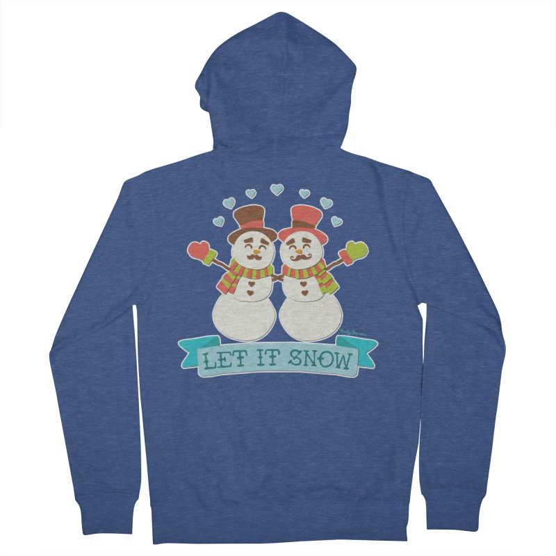 Let It Snow Women's French Terry Zip-Up Hoody by Andy Bauer's Shop