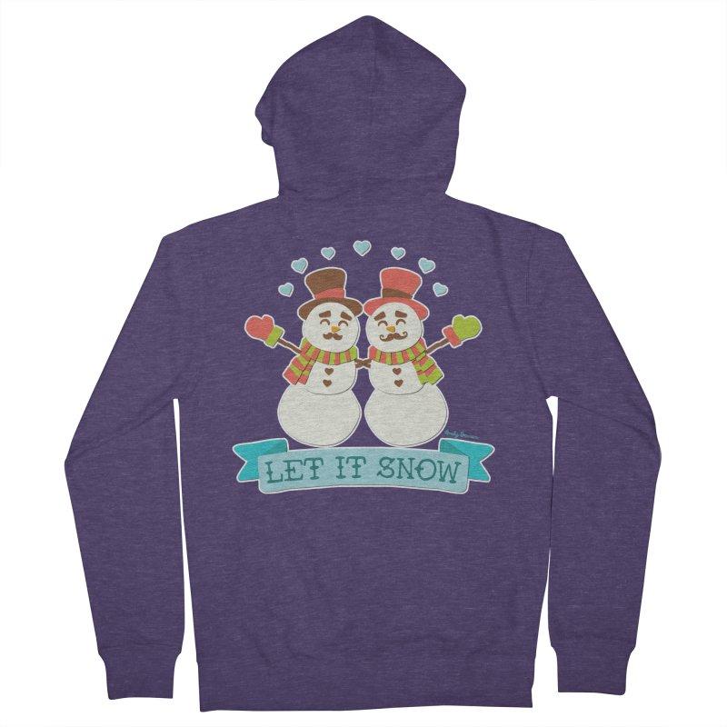 Let It Snow Men's Zip-Up Hoody by Andy Bauer's Shop