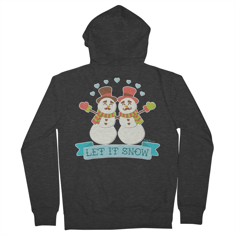Let It Snow Men's French Terry Zip-Up Hoody by Andy Bauer's Shop