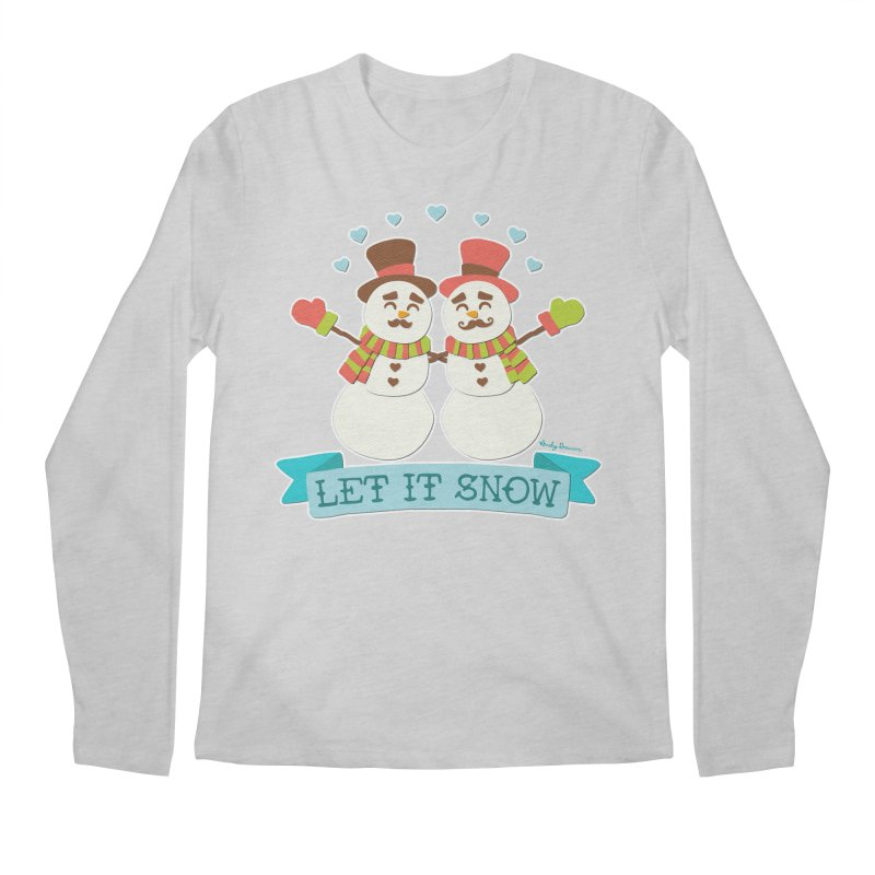 Let It Snow Men's Regular Longsleeve T-Shirt by Andy Bauer's Shop