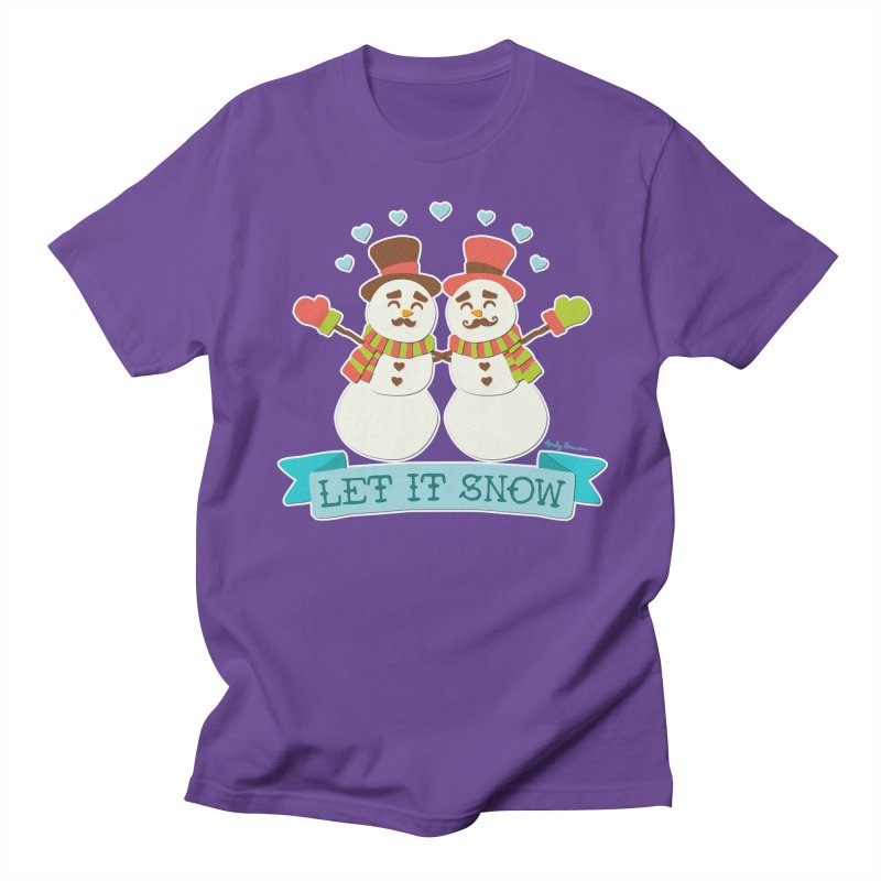 Let It Snow Women's Regular Unisex T-Shirt by Andy Bauer's Shop