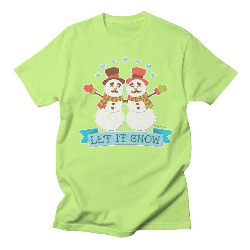 Let It Snow Men's T-Shirt by Andy Bauer's Shop