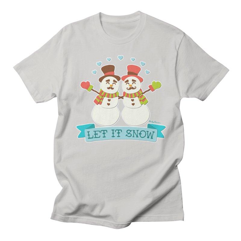Let It Snow Women's Regular Unisex T-Shirt by Andy Bauer's Shop