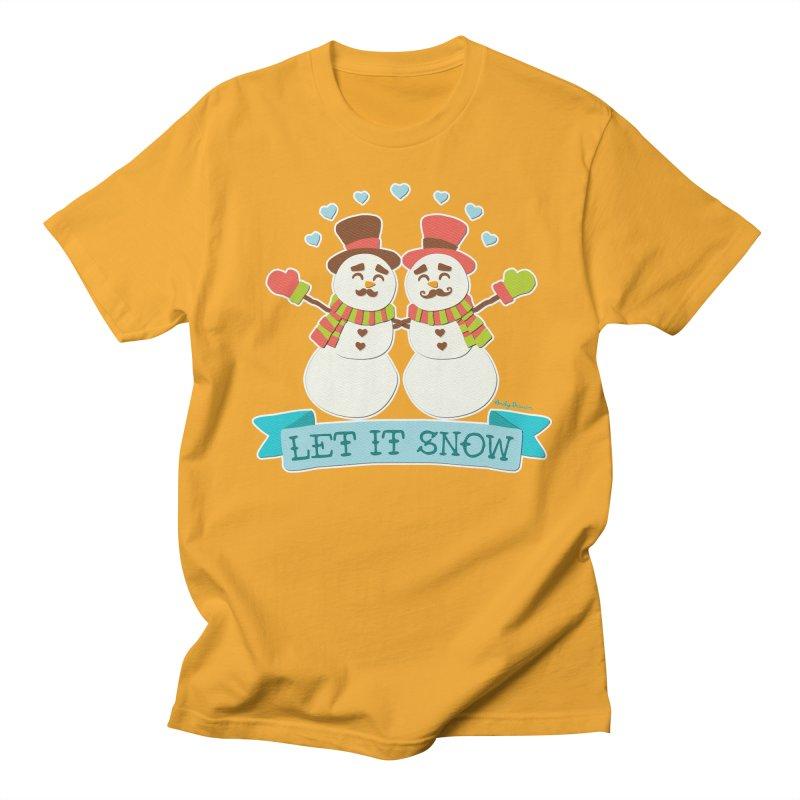 Let It Snow Men's Regular T-Shirt by Andy Bauer's Shop