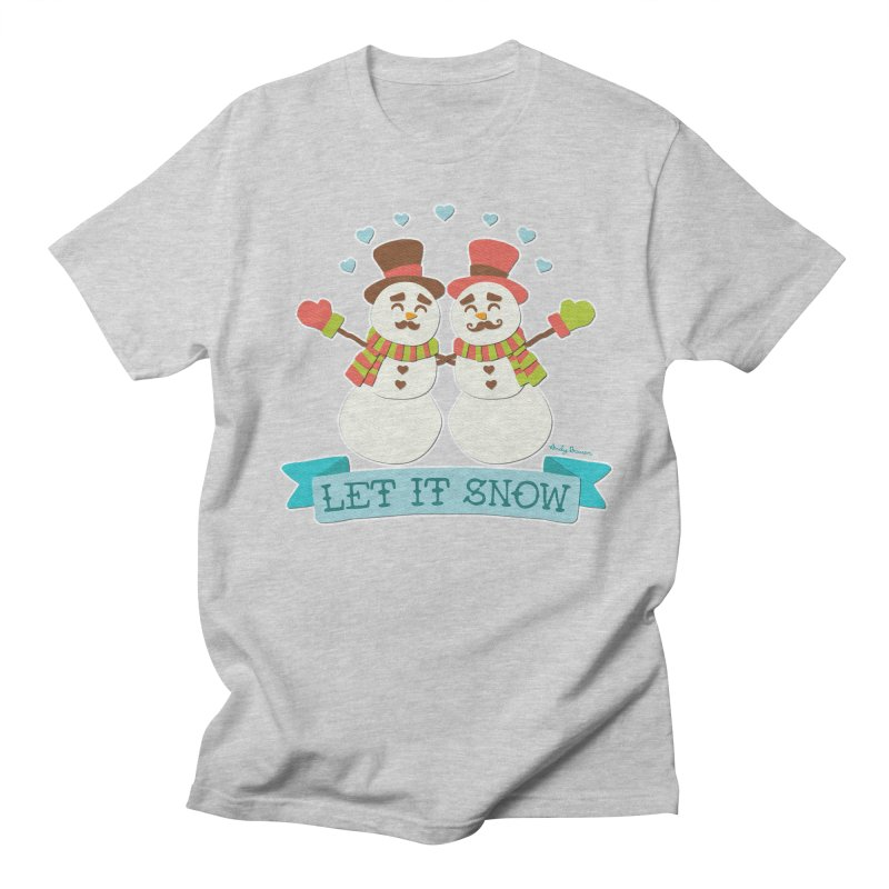 Let It Snow Men's Regular T-Shirt by Andy Bauer's Shop