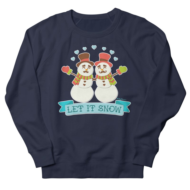 Let It Snow Men's Sweatshirt by Andy Bauer's Shop