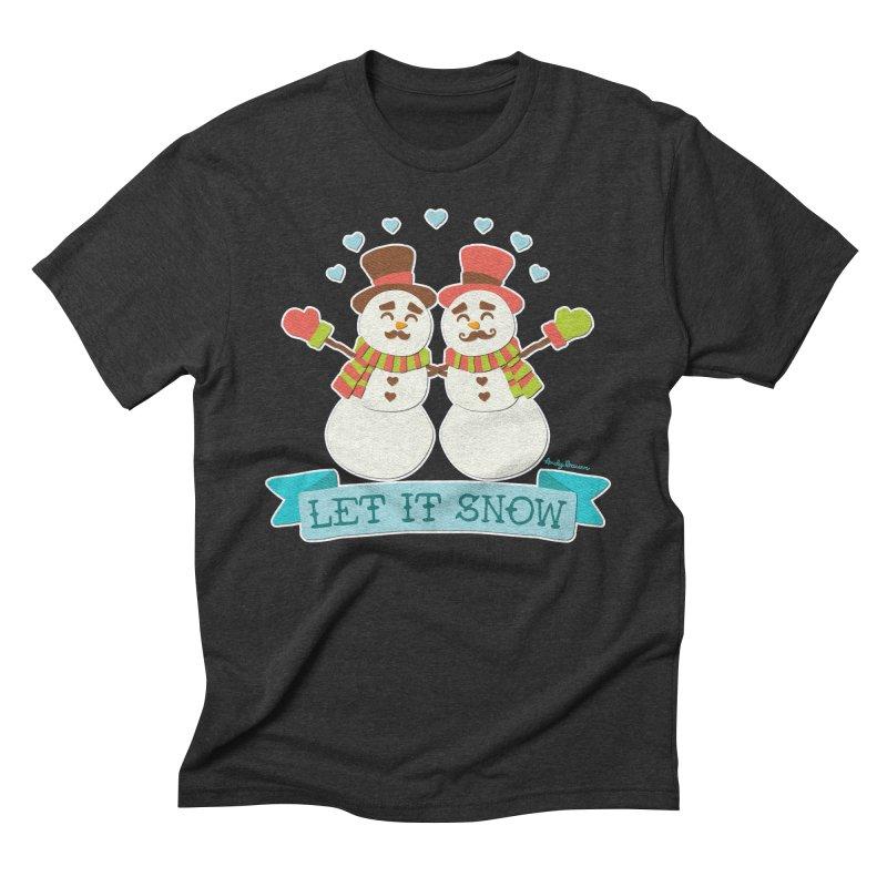 Let It Snow Men's Triblend T-Shirt by Andy Bauer's Shop